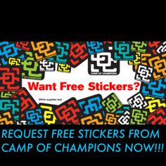 FREE STICKERS FROM CAMP OF CHAMPIONS SUMMER SNOWBOARDING CAMP SCSM Weekly Sundays Savings Summary First Week of February 2015 In Review 2/1/15 to 2/7/15 Free Stuff Deal Alerts Savings Tips and More - STACKING COINS SAVING MONEY [SCSM]