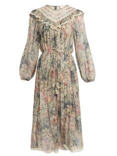 Cavalier floral-print silk-chiffon dress   Zimmermann   MATCHESFASHION.COM