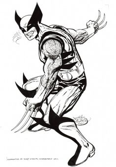 """Wolverine commission by John Byrne. John had these thoughts about Wolverine in """" A World without Wolverine It's a road I have traveled down before. Comic Book Artists, Comic Book Characters, Comic Artist, Marvel Characters, Comic Character, Comic Books Art, Superman, Wolverine Art, John Byrne"""