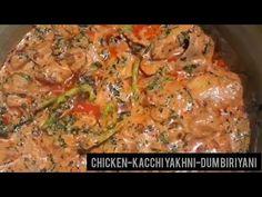 CHICKEN-KACCHI YAKHNI-DUM BIRIYANI - YouTube Make It Yourself, Chicken, Youtube, Food, Kitchens, Essen, Meals, Youtubers, Yemek