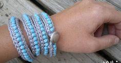 tangled happy: Wrap Around Crochet Bracelet