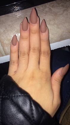 Nude Matte Stiletto Acrylic Claws