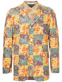 Comme Des Garçons Vintage tie-dye checkerboard jacket