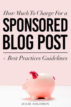 How much do I charge for a sponsored post? We have talked about how to best negotiate your rates, but in order to really gauge. Marketing Budget, Marketing Tools, Content Marketing, Internet Marketing, Media Marketing, Digital Marketing, Make Money Blogging, How To Make Money, Julie Solomon