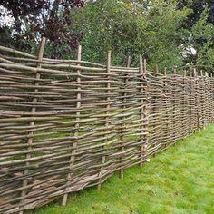Hazel hurdle decorative woven garden fencing panel x natural Bamboo Garden Fences, Wattle Fence, Metal Garden Fencing, Garden Fence Panels, Bamboo Garden Ideas, Decorative Fence Panels, Natural Fence, Natural Garden, Fences Alternative