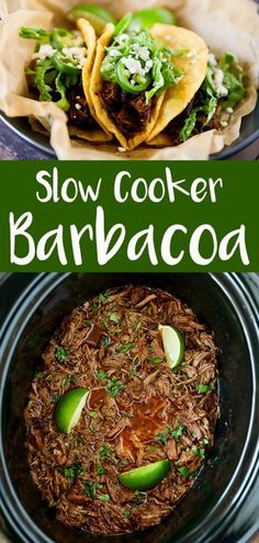 Slow Cooker Barbacoa Recipe - No. 2 Pencil This Slow Cooker Barbacoa Recipe has become one of our family favorites. Tender fall apart beef that simmers all day long in flavorful Mexican spices. If you are a fan of Chipotles Barbacoa recipe, you are Crockpot Dishes, Crock Pot Cooking, Beef Dishes, Crockpot Meals, Shredded Beef Tacos Crockpot, Roast Beef Tacos, Slow Cooker Meals Healthy, Slow Cooker Dinners, Crockpot Recepies