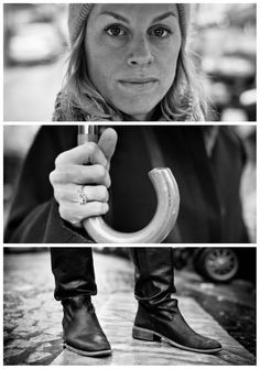Germany-based street photographer Adde Adesokan asked strangers to portray them in these 3-part portraits