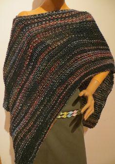 knitting poncho, scarf, handmade Poncho Scarf, Knitting, Handmade, Design, Ponchos, Scarf Crochet, Handarbeit, Breien, Hand Made