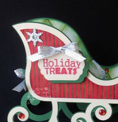 If you are crafting and baking, be sure to use Joy's Life Wintery Puns for your tags! I used snowflake brads and Jewel Bling . Christmas Paper Crafts, Christmas Ornaments, Holiday Treats, Holiday Decor, Life Design, Sled, Birthday Candles, Snowflakes, Presents