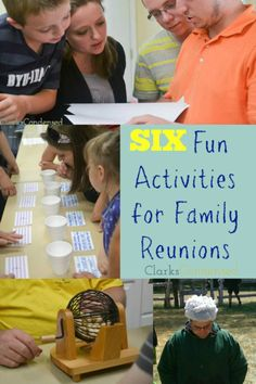 Do you have a family reunion or group event coming up? Here are six fun and easy games that are sure to be a hit! Link to: http://www.clarkscondensed.com/family/five-awesome-family-reunion-games/ #ClarksCondensed