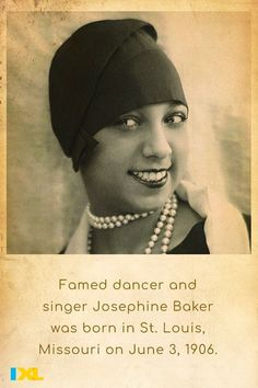 Baker rose to fame in Paris, where she would become a symbol of the Roaring Twenties! #OnThisDay #TBT American Symbols, American History, Roaring Twenties, The Twenties, Number Grid, Countries Of Asia, Primary And Secondary Sources, Branches Of Government, Bill Of Rights