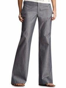 Gray pinstripe pants, curvy/low flare:)♥