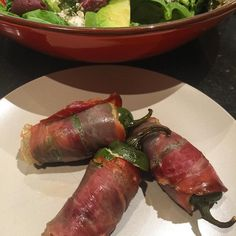 An Italy meets Mexico take on the jalapeño popper - with prosciutto. Absolutely sensational. #delicious #chili #jalapeño #yum #homestylecooking