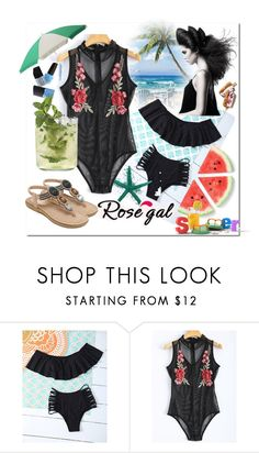 """""""Summer#Outfit#Rosegal"""" by bamra ❤ liked on Polyvore"""