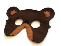 Brown Bear Felt Mask for Children de BHB Kidstyle sur DaWanda.com