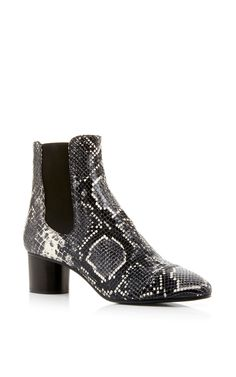 696aa970b Danae Python Printed Calf Leather Boots by Isabel Marant Now Available on  Moda Operandi Wedge Boots