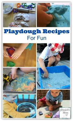 A collection of fun play dough recipes and activities to do with play dough