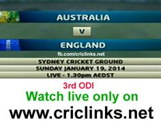 Sunday 19th,January 3rd ODI between AUS vs Eng will be played at (SCG).After Gibba 2nd ODI u can say Nothing going to Eng way so far.theye still sarching 1st win on Aus soil.Lets hope maybe its happen on sunday or maybe not.Match will be start 8.20 AM PST.8.50 IST.Watch live action only on http://www.criclinks.net/ #AUSvsEng