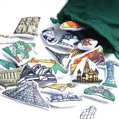 World Map Landmarks