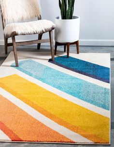 Unique Loom Estrella Collection Modern Abstract Beige Area Rug 0 x Casablanca, Modern Rugs, All Modern, Shed Colours, Colors, Trellis Rug, Beige Background, Buy Rugs, Round Rugs