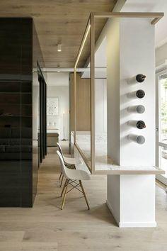 2 0 0 5 - 2 0 1 5 CUBE HOUSE / Dining Room #carrara #marble #marmo #tavolo #vineria #winery #eames #chair #minimal #parquet #wood #bucchi #art #ohmylab #houzz