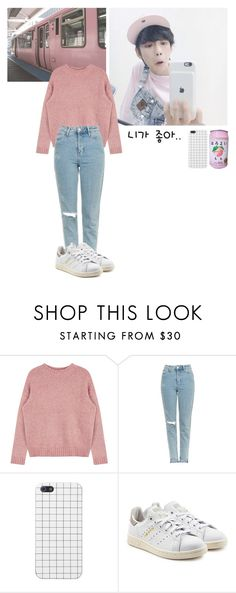 """""""Untitled #254"""" by spisakreka ❤ liked on Polyvore featuring Topshop and adidas Originals"""