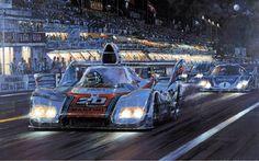 Racers Moon - Jacky Ickx - Le Mans 1976 - Nicholas Watts