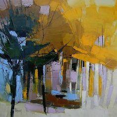 For the love of art: Hervé Lenouvel Landscape Artwork, Contemporary Landscape, Contemporary Paintings, Abstract Landscape Painting, Abstract Oil, Abstract Trees, Tree Art, Watercolor Art, Cool Art