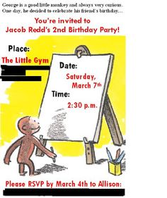 Very Merry Events: Curious George Birthday Party