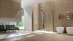 Salle de bain bathroom on pinterest deco du bois and - Comment faire douche italienne ...