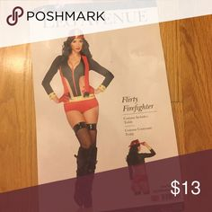 Sexy firefighter costume Comes with costume, red gloves, and tights Other