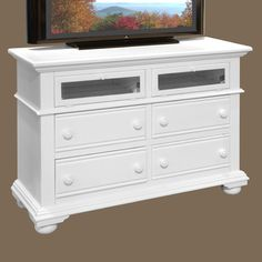 "American Woodcrafters Cottage Traditions 4 Drawer Media Dresser 52"" W; $756"