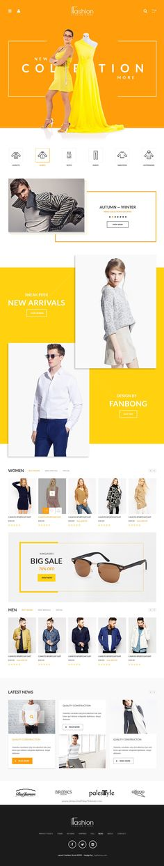 Fashion Store is amazing premium #PSD Template for multipurpose #eCommerce #website download now➯ https://themeforest.net/item/fashion-store-psd-template/16578116?ref=Datasata