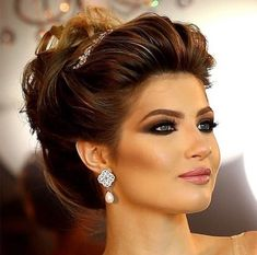 hair style for medium hair up wedding hair wedding hair dos hair for short hair style wedding hair hair bun styles wedding hair hair styles for medium hair Bridal Makeup, Bridal Hair, Wedding Hair And Makeup, Hair Makeup, Hair Wedding, Boho Wedding, Veil Hairstyles, Wedding Hairstyles, Classic Updo Hairstyles