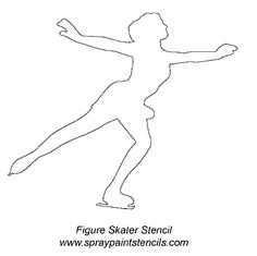 pattern for cutout of ice skater - Google Search