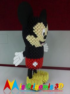 Mis Origamis 3D: MICKEY MOUSE GRANDE - ABRIL 2016