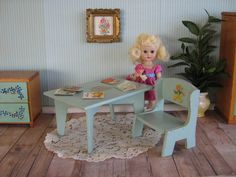 RARE  Vintage Madame Alexander Table and Chairs  by TheToyBox