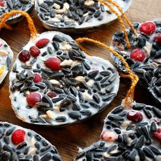 Fruit, seed, and shortening is all it takes to make these healthy suet cakes for the birds. If you're a birdwatcher, have a go!