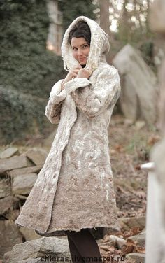 """Felted Coat Template """"Winter Story"""". For felting with instructions"""
