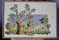 * Quadros feitas em madeira nobre com acabamento em mosaico <br>* As peças são confeccionadas Manualmente, Trabalho artesanal. <br>* Fazemos projetos em tamanhos personalizados <br>* Peças Sob Encomenda <br>* Frete a Calcular <br>* Fotos meramente ilustrativa