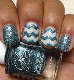 Chevron Nails - Instagram @LoveMyNails_