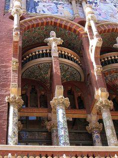 Palau de la Musica Catalana Barcelona, Spain | Sección de la fachada del Palau de la Musica. on Flickr! by xip