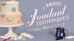 Head over to enjoy a FREE Basic Fondant Class at Craftsy.com! Build a sweet and solid cake decorating foundation with acclaimed cake designer Elisa Strauss in this free beginner fondant mini-class.