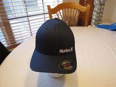 RARE hat cap Flexfit L XL Hurley CORP navy blue logo MHA0003150 Men s surf  skate 75e283c8976d