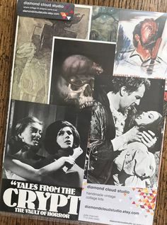 Death and Murder Vintage Horror Movie and Halloween Collage