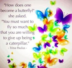 """How does one become a butterfly?"" she asked, ""You must want to fly so much that you are willing to give up being a caterpillar"" - Trina Paulus ♥ From one my fave books on my bookshelf 'Hope for the Flowers' ♥ Butterfly Quotes, Butterfly Kisses, Butterfly Art, Butterfly Symbolism, Butterfly Pictures, Butterfly Crafts, Beautiful Butterflies, Inspire Me, Decir No"