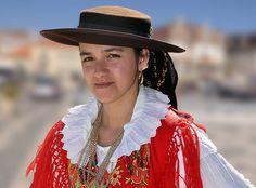   A Minho Ranchos folk dancer, Portugal  