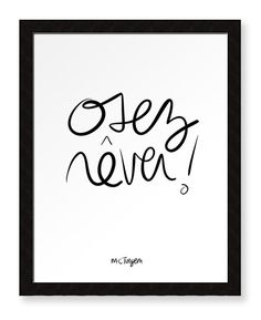 Items similar to Osez rêver! - Affiche grand format on Etsy Faith Quotes, Words Quotes, Life Quotes, Miracle Morning, Gifts For Photographers, Square Photos, Co Working, Room Tour, Some Words