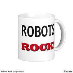 Robots Rock Classic White Coffee Mug