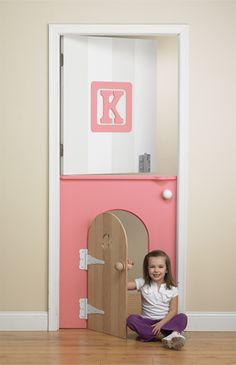 A-Door-Able - Colorful Kids' Room Design on HGTV (very cool idea.) Lucas how awesome would this door be for the playroom Deco Kids, Toy Rooms, Kids Rooms, Toddler Rooms, Cool Kids Bedrooms, Bedroom Doors, Kids Room Design, Playroom Design, Little Girl Rooms